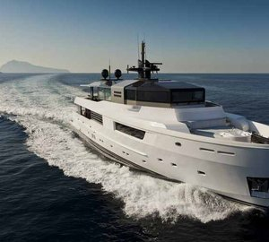 The Arcadia 115 Motor Yacht MOcean Side View Yacht