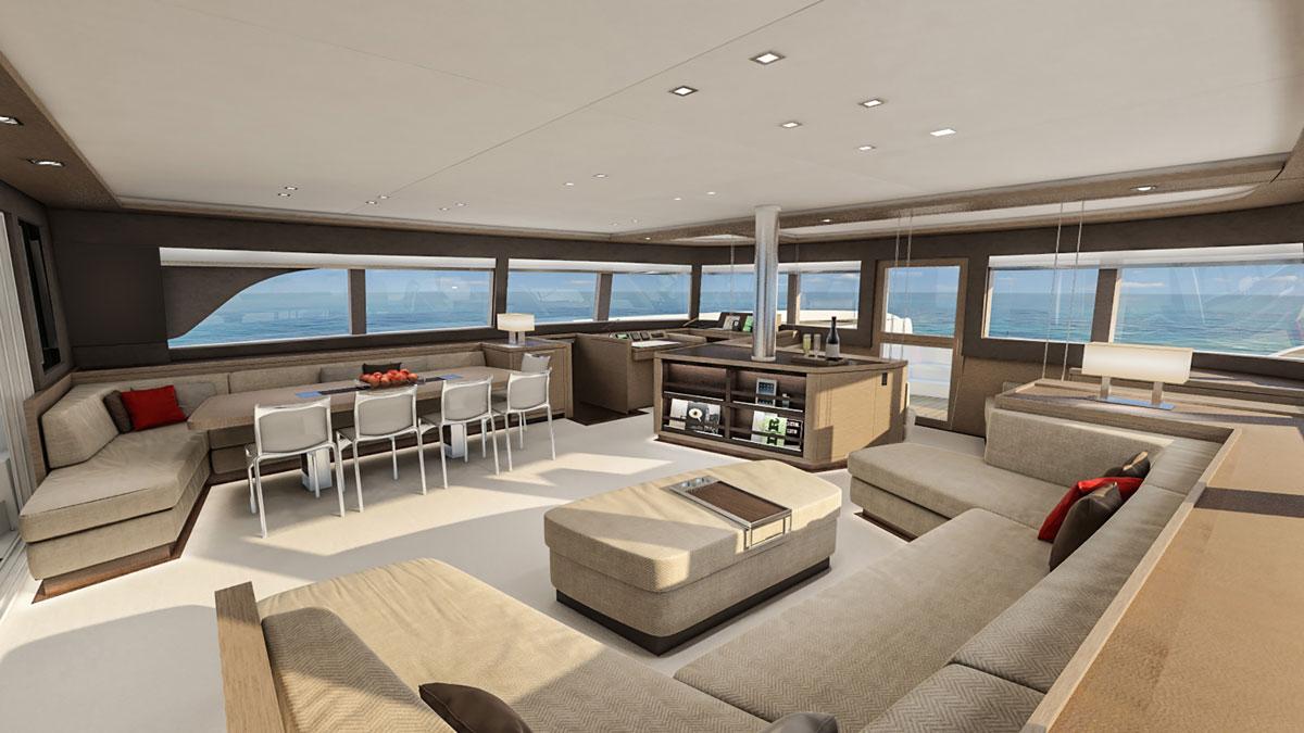Lagoon 77 Saloon Luxury Yacht Charter Amp Superyacht News