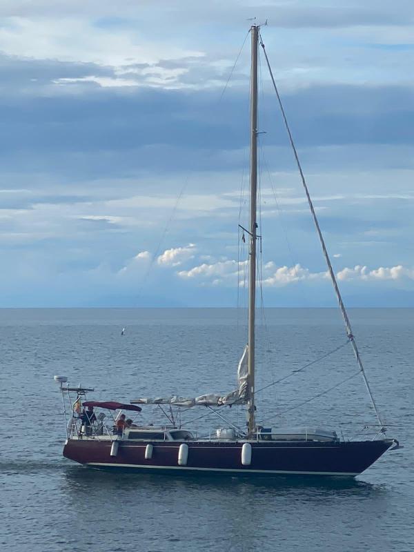 Elba Pasqua in barca a vela