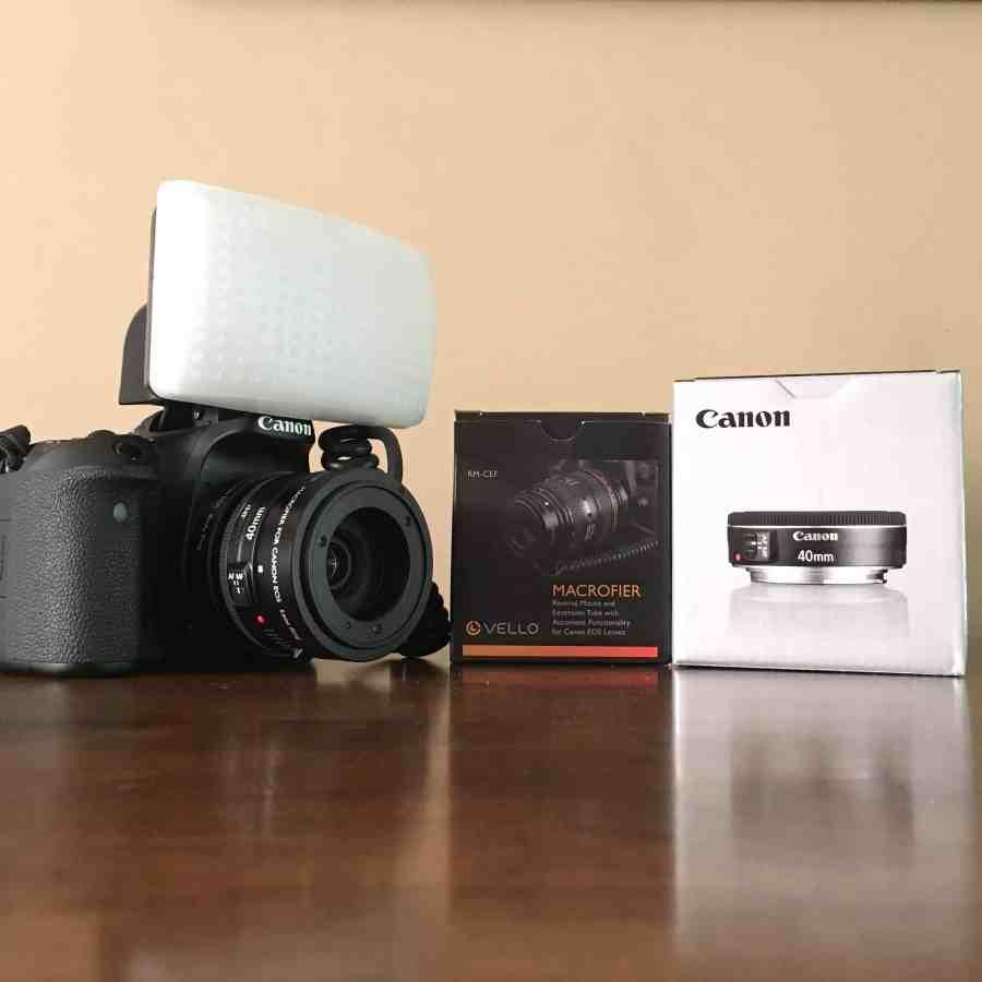 Canon 70D with Vello Macrofier