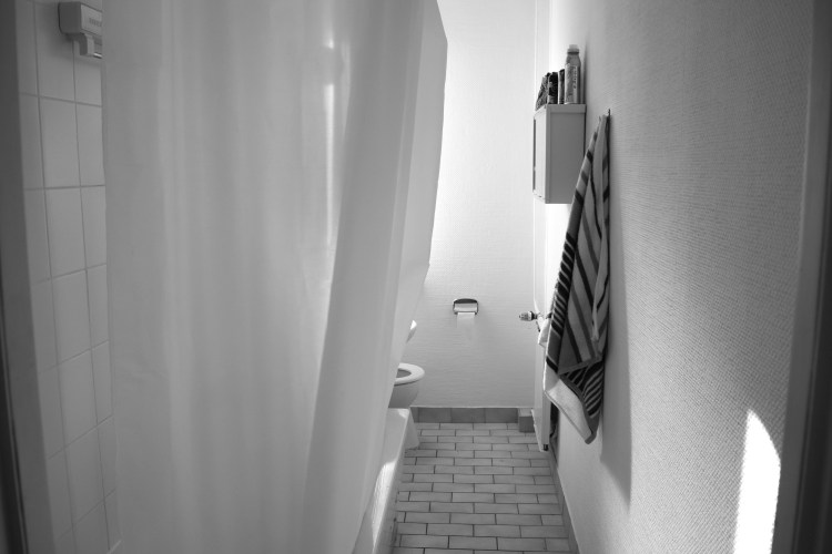Berlin black and white bathroom