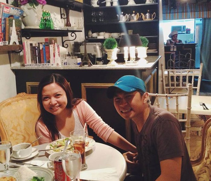 Our 2nd anniversary dinner at La Creperie Boheme