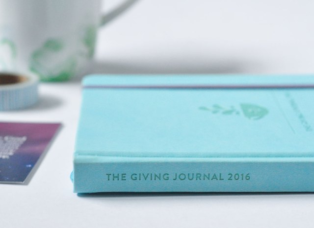 Coffee Bean and Tea Leaf Giving Journal 2016