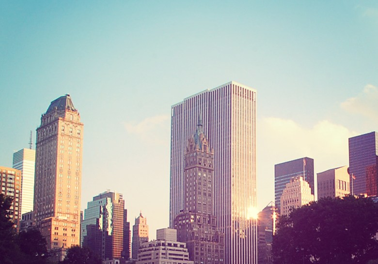 New York Skyline, view from Central Park