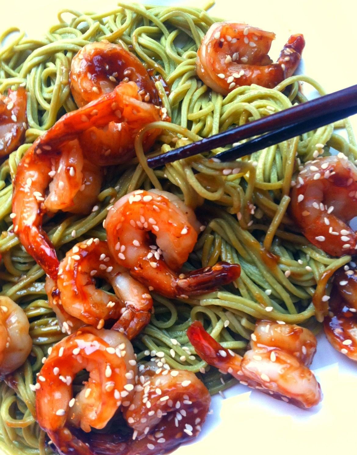 shrimp and Asian noodles recipe 6