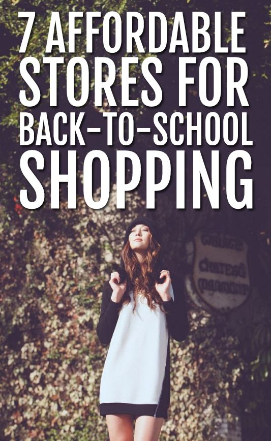 7 affordable stores back to school