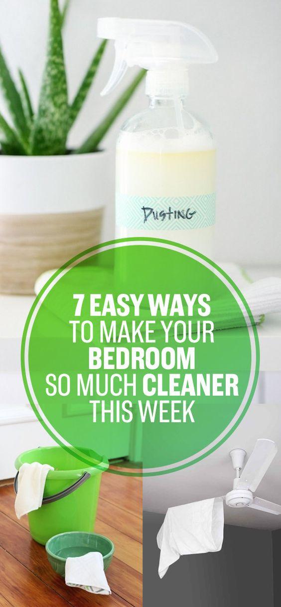 7 ways to make your bedroom clean