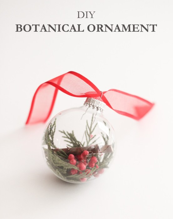 DIY BOTANICAL ORNAMENT