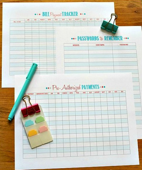Family Binder Budgeting Printables