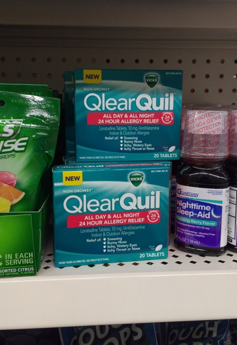 Vicks QlearQuil™ being sold in a dollar store.