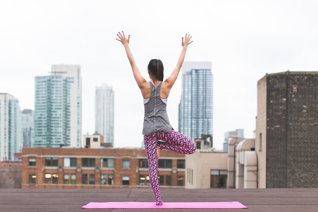 Exercising on a rooftop while on the Keto diet