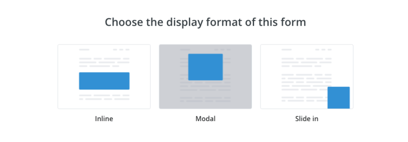 Choosing the form format in ConvertKit