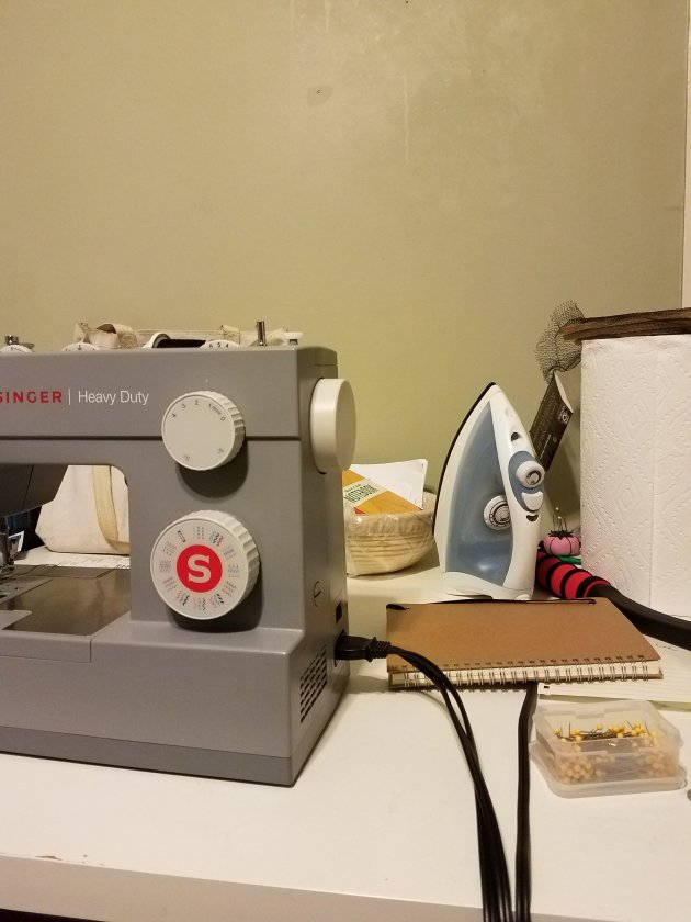My messy sewing space