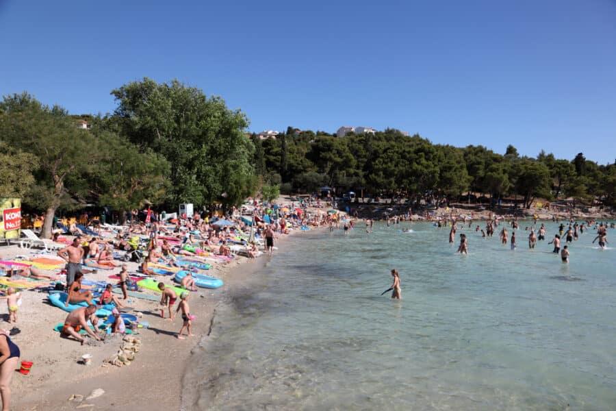Sandy Beach In Croatia - Adriatic beach Slanica on the Murter in Croatia