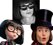 Edna Mode and Wonka based on Wintour look