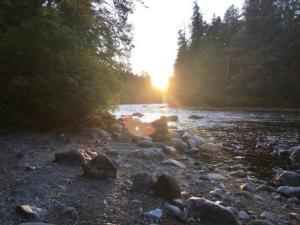 quinsam river sunset elk falls campbell river