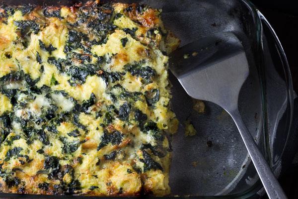 Spinach & Gruyere Strata
