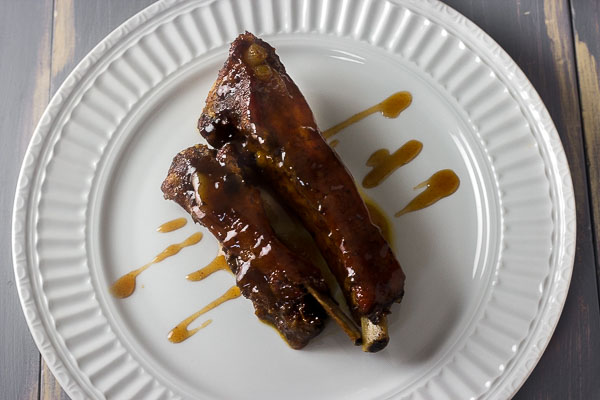 Oven Baked Spare Ribs in Plum Sauce