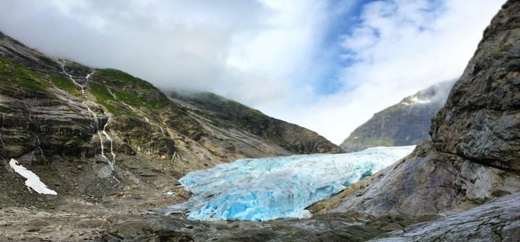 A Peek at the Nigardsbreen Glacier