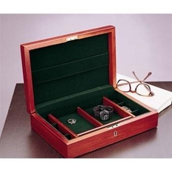 Mens Jewelry Box Locking Cherry Wood Valet Handcrafted