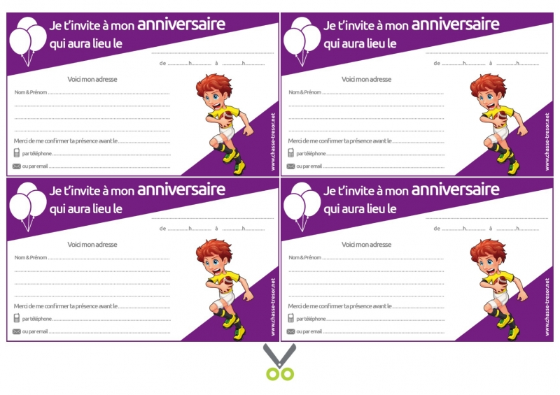 invitations a imprimer pour anniversaire rugby