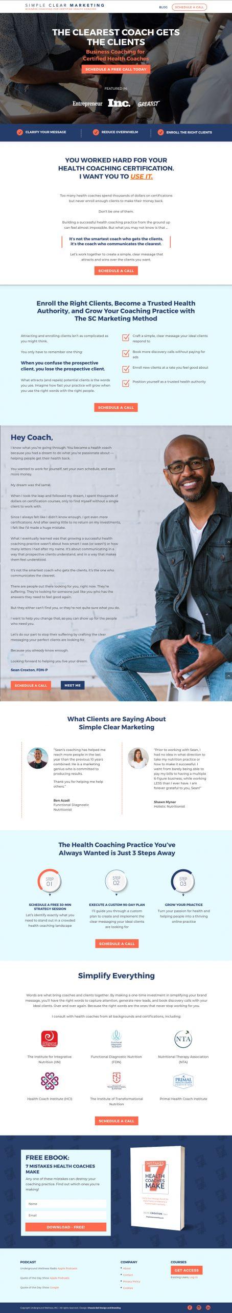 Website Design for Health Coaches