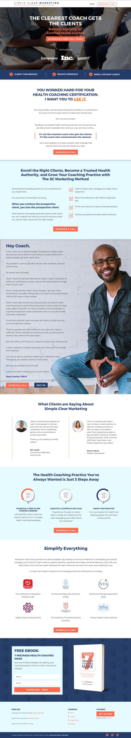 Website Design for Health Coaches