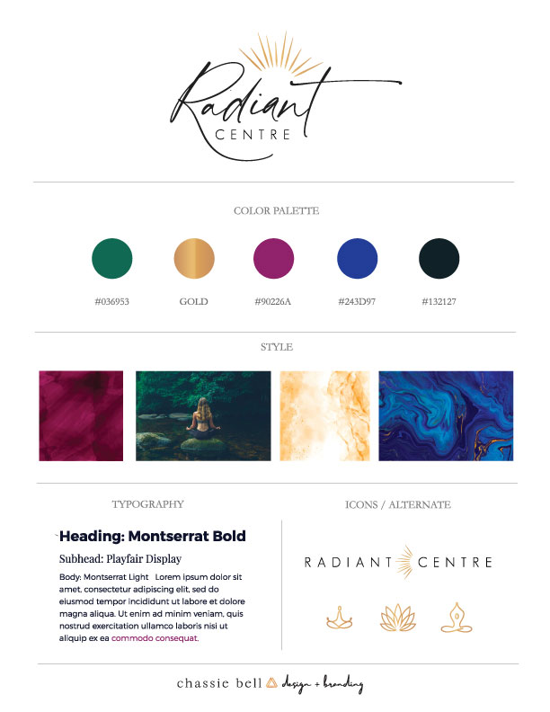 Radiant Centre Moodboard
