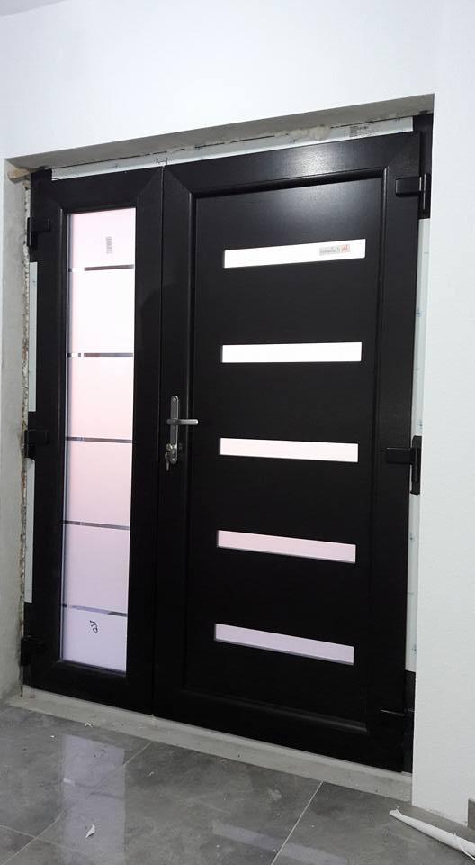 Porte PVC avec Panneau decoratif Belgique 3