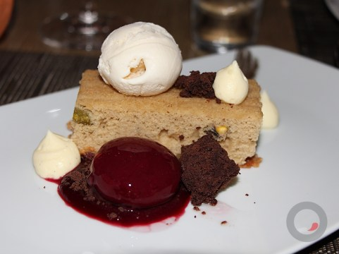 Cherry Bomb – black cherry bubble, pistachio pound cake, vanilla bean ice cream