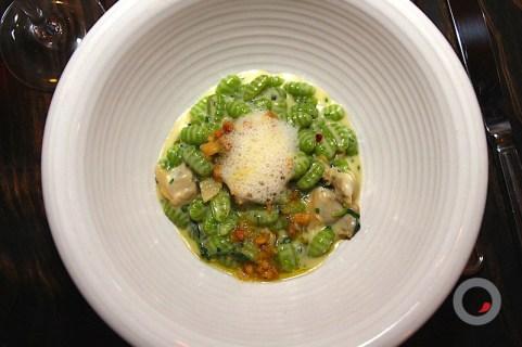 Pea Shoot Cavatelli, Local Clams, Shecrab Butter, Marcona Almond Pesto