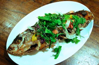 Whole Fish – bok choy, orange, garlic, fennel fronds, lemon