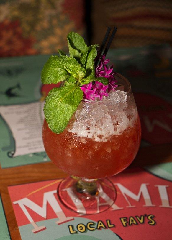 Walk This Way – Hibiscus orange water with Fresh Passion fruit and Crema Sherry