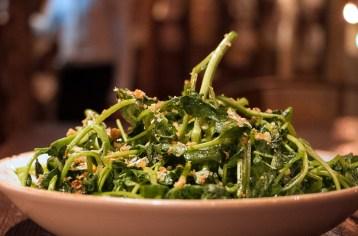 Flash Cooked Watercress – Garlic chips