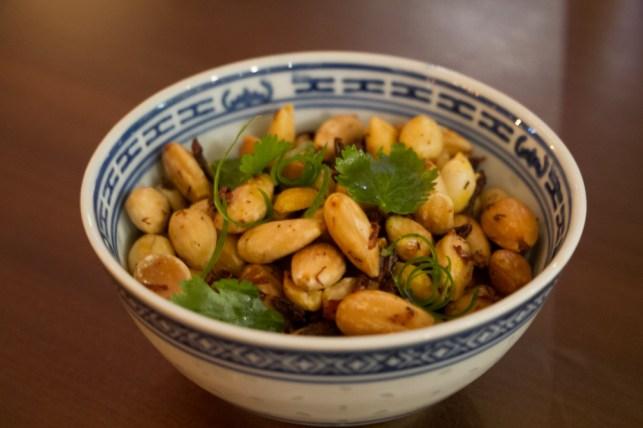 Peanuts & Chapulines, szechuan peppercorn, cilantro, lime