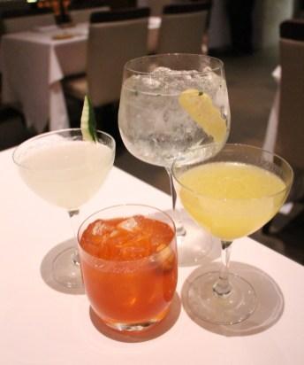 Cocktails: Gin Tonic, Frodo's Garden, Cucumber Gimlet, Spiced Melonada