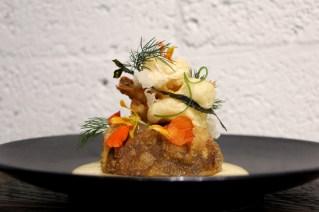 Rangoon – smoked mushrooms, pickled ramp mustard, sweet soy beef