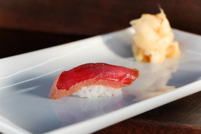 Soy marinated Bluefin Tuna