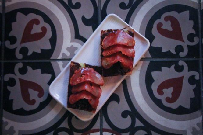 Chocolate y Chorizo - Spanish bread with chocolate, chorizo cantimpalo and dash of chili