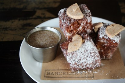 Torrijas – topped with fruit and quince butter.