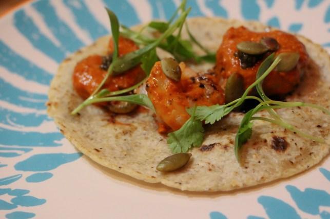 Camaron – Pipian rojo, huitlacoche, escamole, pepita seeds