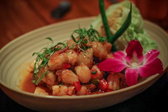 Popcorn Shrimp – Goong Tod Grob | shrimp tempura, shitake mushrooms, spicy mayonnaise