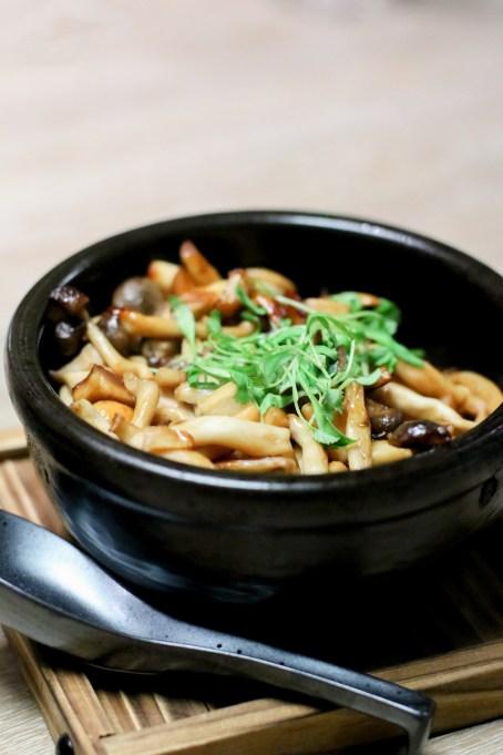 Mushrooms w/ Chimichurri & BiBimBap Sauce
