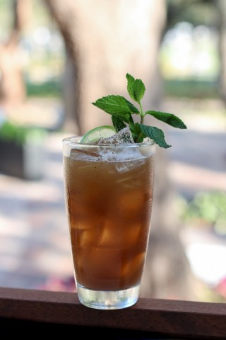 Dark & Stormy with Cruzan Blackstrap Rum, Vanilla Bitters, Nutmeg & Ginger Soda