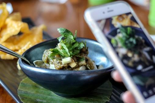 Thai Guacamole – eggplant, hard boiled egg, jalapeno and nahm prik noom