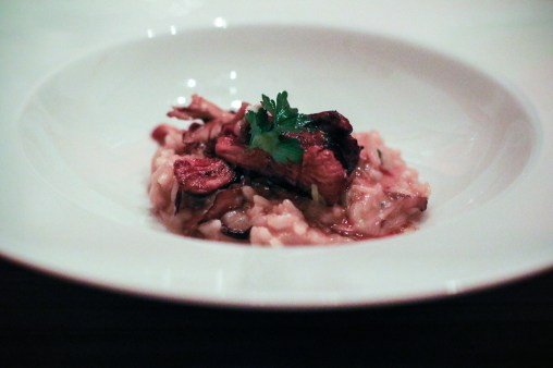 Mushroom Risotto- arborio rice, chef's selection of mushrooms, taleggio cheese