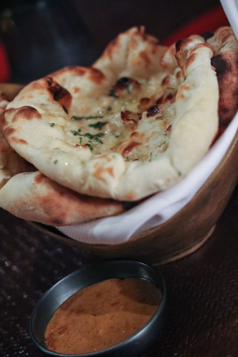 Naan Bread with Garlic with Cilantro