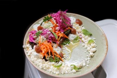 Falafel - Tzatziki–herbs–carrot–feta-pickled cabbage