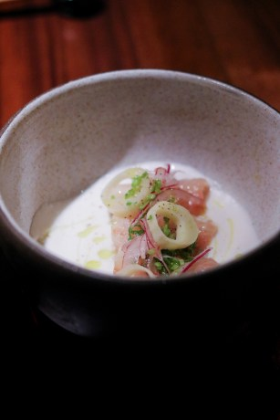 Hiram's Kinilaw - Hearts of Palm, Coconut Milk & Vinegar,Red Onion, Coriander, Arbequina Olive Oil