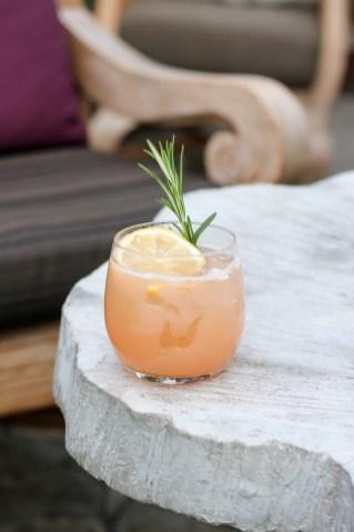 Evening Shade w/ Glenlivet 12, St. Germain, Peach, Rosemary & Lemon